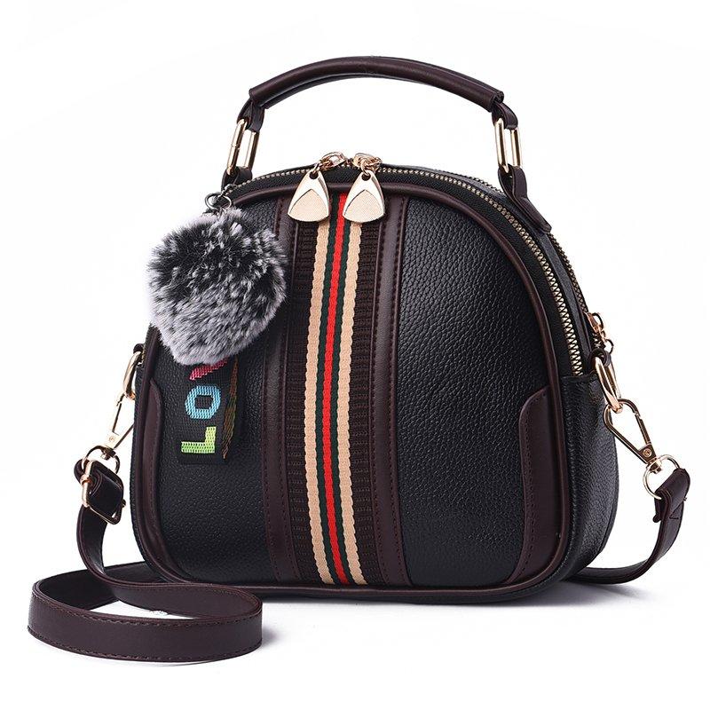 Zoma Shi 2018トレンド新しい女性のバッグ夏のファッション韓国の小さな正方形のバッグかわいい小さなバッグ斜めクロスバッグ野生のソフトレザーバッグZ-MSRT 5030(黒)
