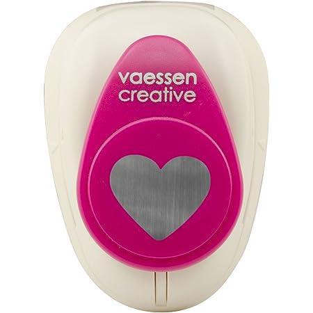 Vaessen Creative Perforatrice de Papier, Taille M, Coeur 1, Pour Projets DIY, Scrapbooking, Création de Cartes et Plus