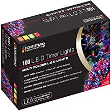Christmas Workshop 100 LED Battery Operated Timer Lights~ Indoor and Outdoor ~Multi-Coloured ~ Christmas, Weddings & Gardens ~ 8 functions ~ 70340