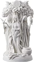 Greek Religious Celtic Triple Goddess Resin Statue, Religious Belief and Home Decoration Statue Altar Decoration,White