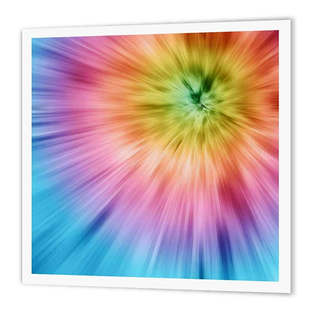 3dRose ht_49035_2 Colorful Starburst Tie Dye-Vibrant Colors Burst Out of Tie Dye Design-Iron on Heat Transfer Paper for White Material, 6 by 6-Inch