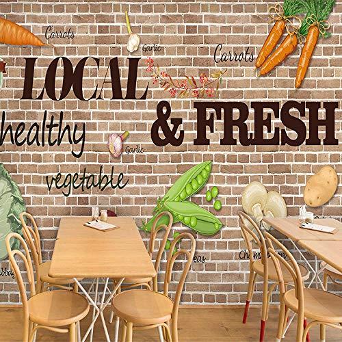 Fotomurales Decorativos Pared Vinilos Decorativos Papel Fotografico 3D Mural Estilo Europeo, Decoración Fresca, Papel Tapiz, Hotel, Comedor, Vegetales Verdes, Tienda De Frutas, Mural