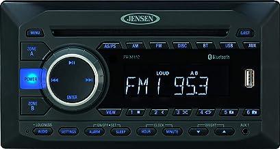 Jensen JWM452 2-Speaker Zones AM/FM|DVD|BT|AUX|USB Bluetooth Wall Mount Stereo, Front USB w/ MP3/WMA Playback, DVD/CD-R/RW...
