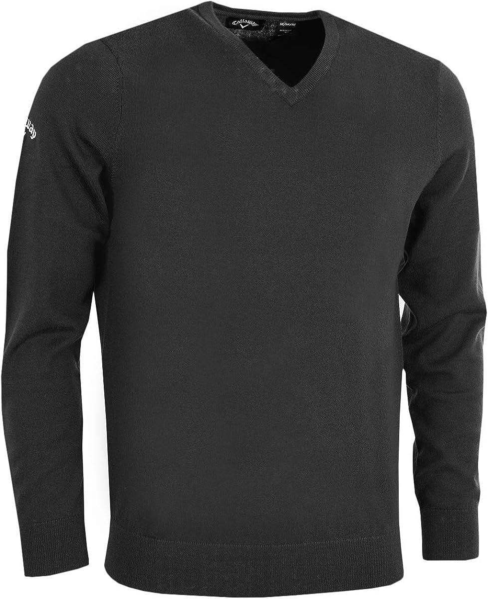 Callaway Mens Ribbed V Neck Merino Sweater