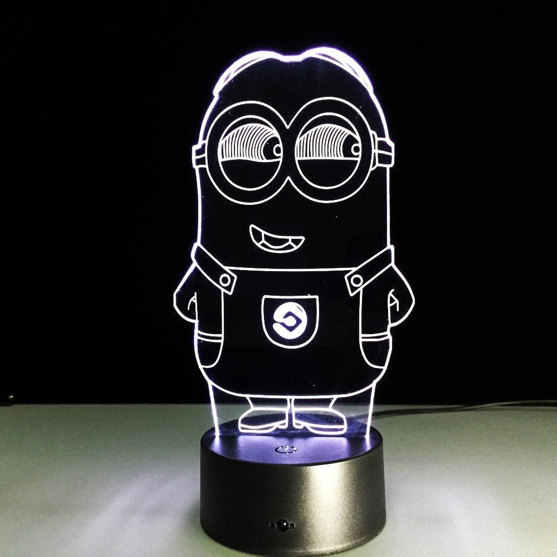 Y′s 3D Minion Night Light Lamp