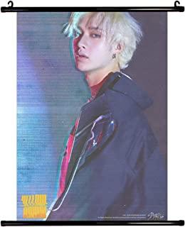 Fanstown Kpop Stray Kids Poster Wall Scrolls Poster Cle 2: Yellow Wood 24.4 x 16.2 inch Wall Hanging Cloth Poster (B02)