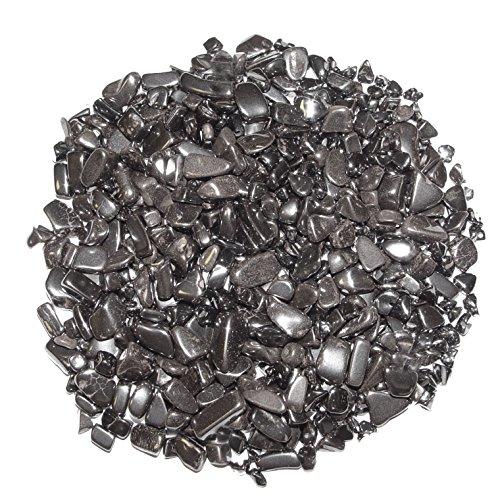Hämatit 200 Gramm mini Edelsteine Trommelsteine Entlade Steine Größe ca. 4-8 mm.(3987)