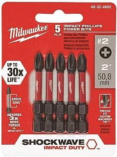 Milwaukee 48-32-4602 Phillips Power Bits 5 Pack