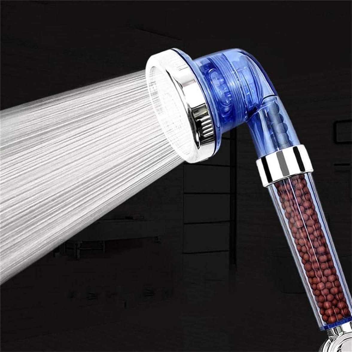 寛解廊下標高シャワーヘッド 取り付け簡単 健康なシャワーホース三シャワーとマイナスイオンスパフィルタリングさ調節可能なシャワーヘッド、、モードの負のロン?スパシャワーヘッドドロップシップ、ブルー