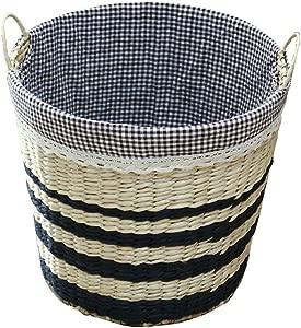 TIANLONG Storage basket Dirty Hamper Storage Basket Portable Large Clothing Rattan Straw Fabric Weaving 35cm
