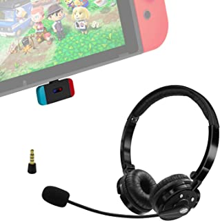Giveet Wireless Gaming Headset Set w/USB-C Audio Dongle Compatible with Nintendo Switch Lite, Bluetooth Over Ear Headphone...