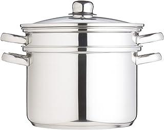 Kitchen Craft Clearview - Olla con Accesorios para cocinar al Vapor (7,5 litros), Acero