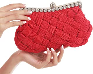 Clutch Bag,Women Handbag,Shoulder Bags Cross-Body,for Wedding, Party, Dinner, Etc(red)