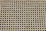 rattan-petrak 1 lfd. Mtr. Stuhlgeflecht (B 45cm), Heizkörperverkleidung, Wiener Geflecht (Natur), Wabengeflecht aus Stuhlflechtrohr, Flechtrohrgewebe, in den Breiten 45, 60 od. 90cm