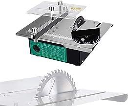 dami Precisión Sierra De Mesa,Eléctrico Sierra De Banco 120W con Hoja De Sierra Multifunción,Velocidad Variable 2000-12000 RPM,Corte En Ángulo De 0-90 °,para Bricolaje Modelo