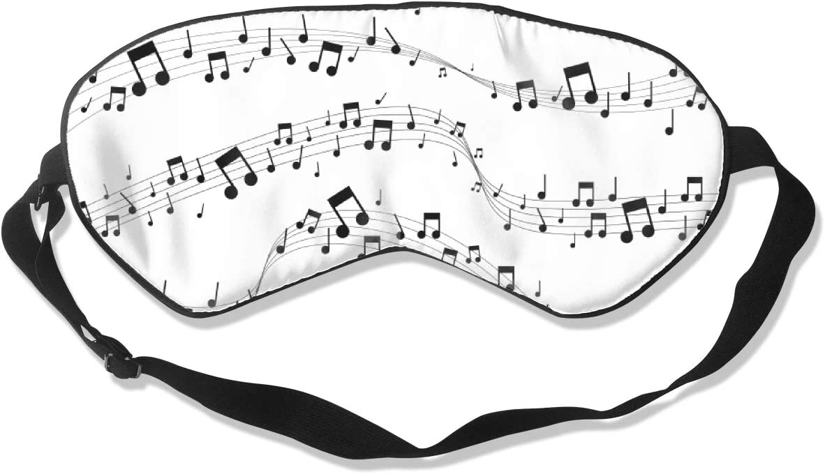 Music Notes Pattern Eye Luxury Mask Sil Many popular brands Sleeping Double-Sided 100%