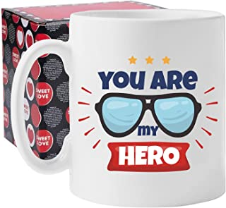 Hero Coffee Mug Fathers Day Gifts from Daughter Son for Dad Papa Grandpa 11OZ Funny Coffee Mug Dad Birthday Gifts for Him ...