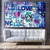 N / A Cartas de Amor Arte de la Pared Impresiones de la Lona Graffiti Banksy Cartel Pinturas de la Lona Arte de la Pared Fotos Deshierbe Dormitorio Arte de la Pared Impresiones Sin Marco 50x70cm
