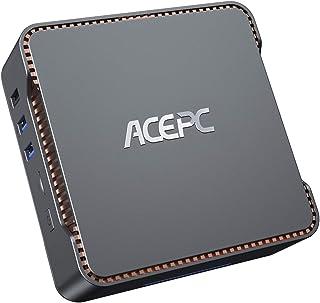 ACEPC AK3 ミニpc 4GB DDR3 64GB eMMC Windows 10 Pro 小型 パソコン インテル Celeron N3350 プロセッサー (最大2.4GHz) コンピューター、3画面同時出力可能 最大4K解像度 Bl...