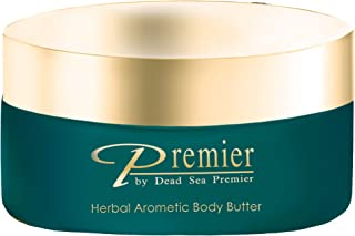 Premier Dead Sea Aromatic Body Butter-Herbal, minerals, anti aging, firming, skin tone, age spots, Neck & Décolleté, Lightweight, and Long-Lasting Nourishmentl, silky, non tacky 5.95Fl.oz