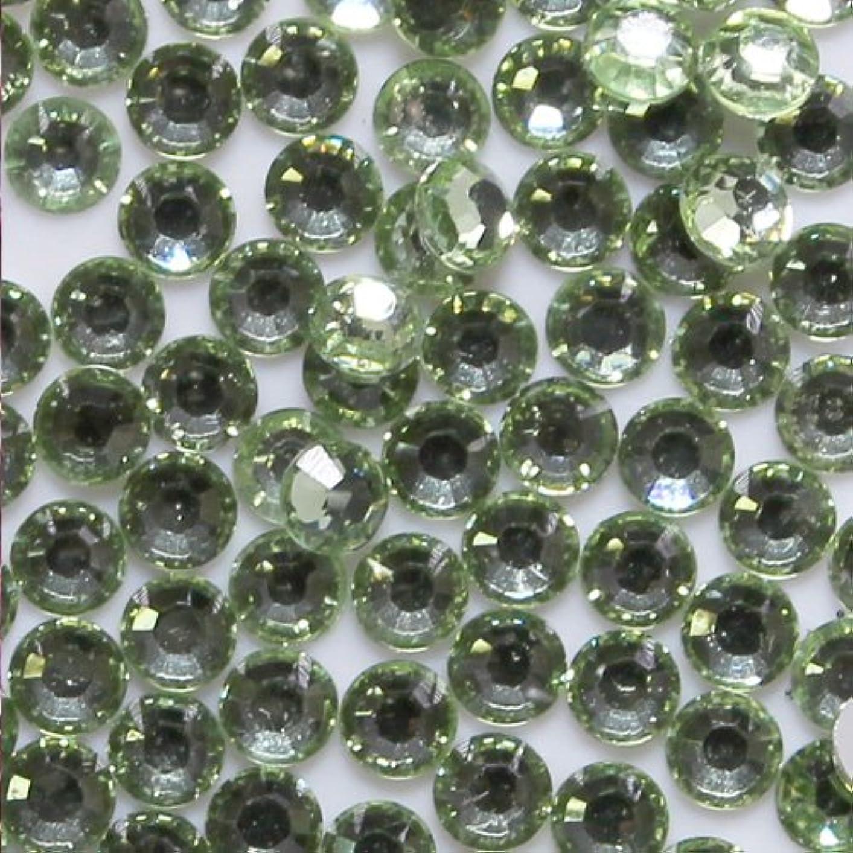 尊敬仕える可動式高品質 アクリルストーン ラインストーン ラウンドフラット 約1000粒入り 3mm クリソライト