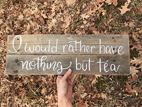 popeven Teehaus Jane Austen Tee-Zitat Holzplanke, zum Aufhängen