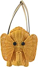 Kate Spade Strut your Stuff Wicker Elephant Bag Natural