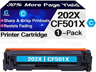 Go4max Compatible Toner Cartridge Replacement for HP 202X 202A CF501X CF501A use with HP Laserjet Pro MFP M281fdw M281cdw ...