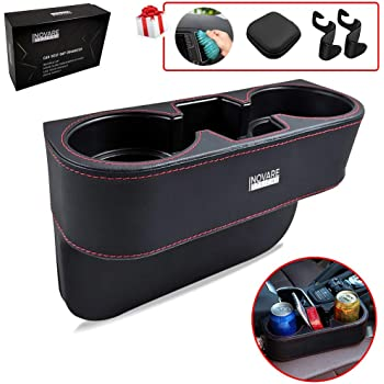 Side Pocket Console Side Pocket Leather Cover Car Cup Holder Auto Front Seat Organizer Cell Mobile Phone Holder