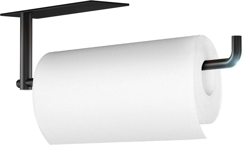 Kitchen Paper Towel Holder Under Black 12.6 Cabinet Matte Inch Nashville-Davidson Mall Max 68% OFF