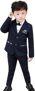 (ラボーグ)La Vogue 子供 フォーマル スーツ 5点セット キッズ 男の子 ジャケット ズボン ベスト シャツ 蝶ネクタイ ボーイズ 紳士服 入学 卒業式 結婚式