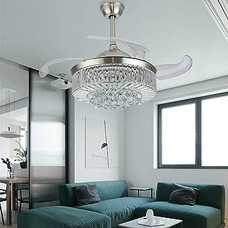 Ventilador de techo moderno de 42 pulgadas con iluminación, regulable, lámpara de techo LED, ventilador de techo ajustable, para salón, habitación infantil, lámpara de techo con mando a distancia