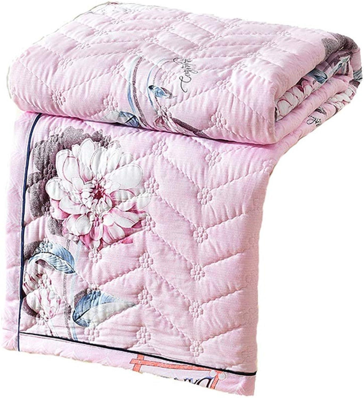 Coton été lavé à l'état frais par la climatisation était mince couette TXFG (Couleur   rose, Taille   150  200cm)