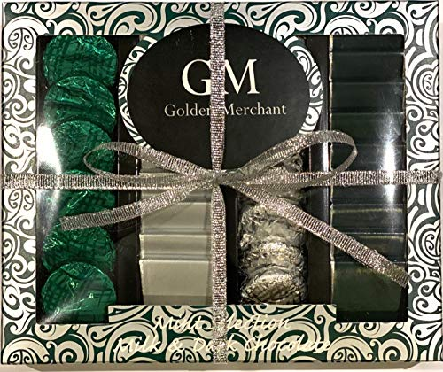 Golden Merchant Dark Chocolate Finest Flavour Dark Chocolates Cremes Gift Box Suitable for Vegetarians 200g 24 Luxurious Cremes - Strawberry, Salted Caramel, Mint Crisps (Mint Selection)