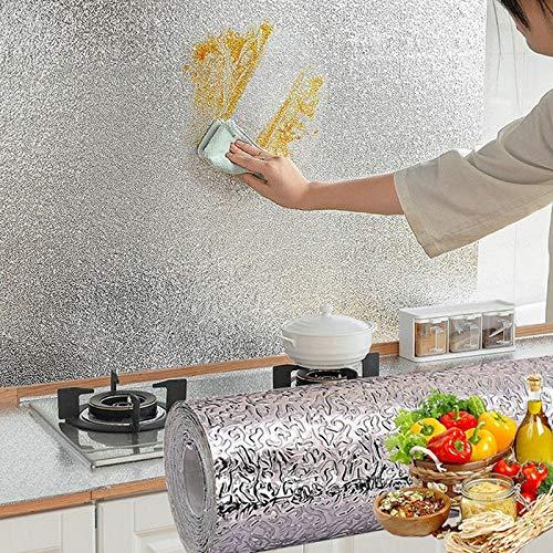 Pegatinas Impermeables A Prueba De Aceite De Cocina Papel De Aluminio Gabinete De Estufa De Cocina Pegatina De Pared Autoadhesiva Suministros De Papel Tapiz De Bricolaje 0.6X10M