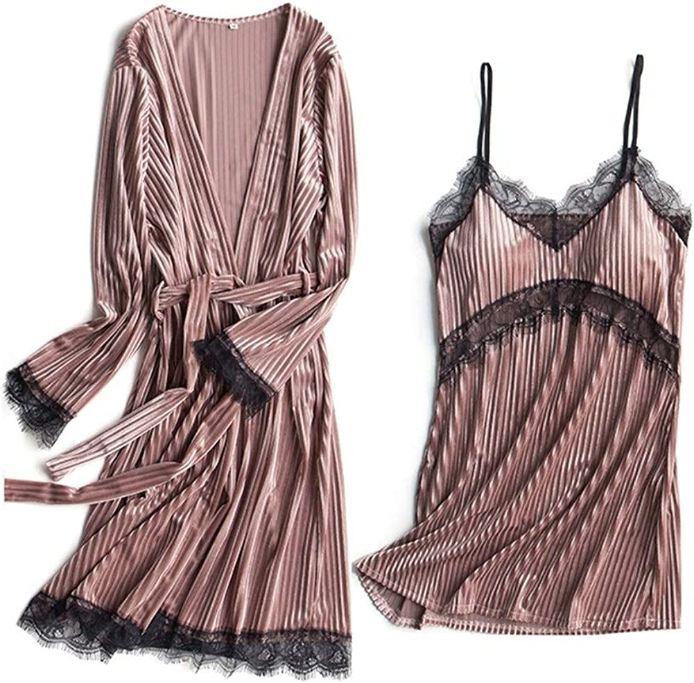 Two-Piece Nightgown Sling Pajamast New arrival Robe Chicago Mall Dres Towel Sexy Bathrobe