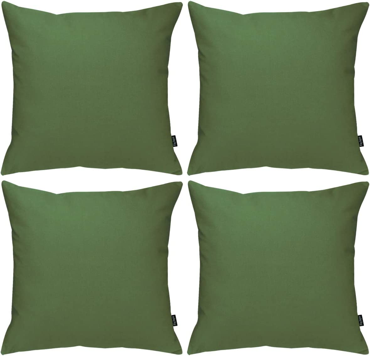 Manufacturer OFFicial shop Faylapa 4 Pcs Cotton Pillow Covers inch x Decor Classic Solid 18 Dyed