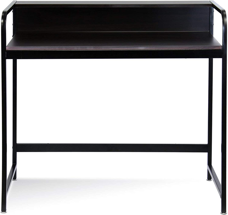 Furinno FNBL-22118 Boyate Computer Desk with Top Shelf, Walnut