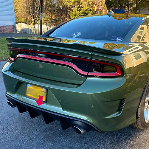 VRracing Rear Bumper Lip Valance Diffuser Splitter Spoiler Compatible For Dodge Charger SRT 2015-2019 16 17 18 | OE Factory Style
