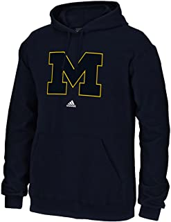 adidas Michigan Wolverines Mens Blue Versa Logo Hooded Sweatshirt