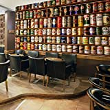 Papel tapiz fotográfico personalizado Cerveza 3D Pintura de pared grande Sala de estar Bar KTV Hotel Café Telón de fondo Mural Fondo 3D