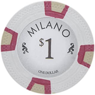Claysmith Gaming Milano Casino Grade Clay Poker Chip 10-Gram – Pack of 50