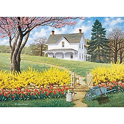 Bits and Pieces - 500 Piece Jigsaw Puzzle -Spring Ahead - Scenic Spring - by Artist John Sloane - 500 pc Jigsaw from Melville Direct