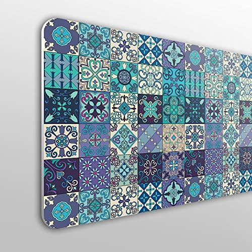 Megadecor hoofdeinde voor bed, PVC, 10 mm, decoratief. Patroon met Portugese tegels in Talavera-stijl. 150cm x 60cm
