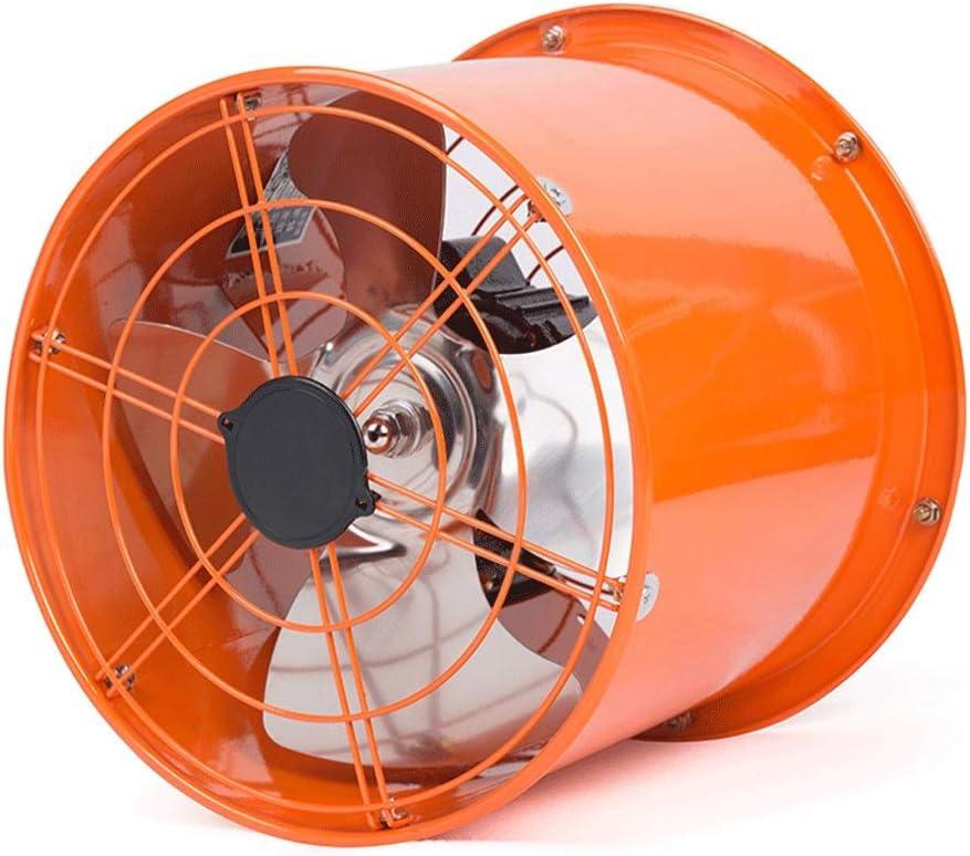 QIQIDEDIAN Ventilador de Escape Tubo cilíndrico de 10 Pulgadas Extractor de Escape Industrial Extractor de Cocina Extractor de ventilación Tipo de Pared Ventilador de Rango Redondo