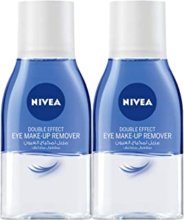 NIVEA, Face Cleanser, Eye Makeup Remover, Double Effect, Sensitive, 2 x 125ml