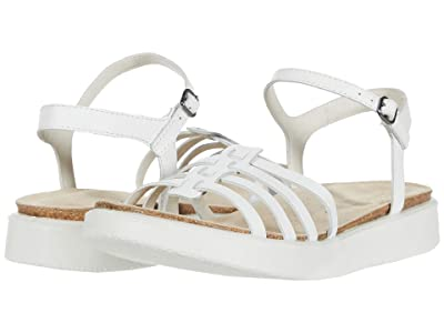 ECCO Corksphere Ankle Strap Sandal (Bright White Cow Leather) Women