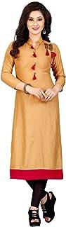Sukhvilas Fashion GoldColor Embroidered Rayon Women's Kurti(PR-VTN-298_$P)
