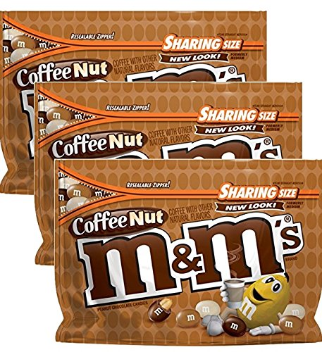 M&M's Coffee Nut Chocolate Candy, 9.6 Ounce, (3 Pack)