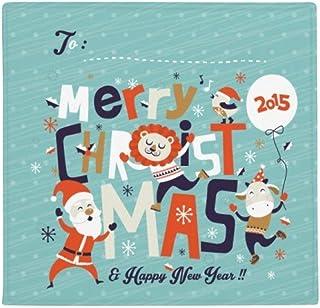 DIYthinker Planta Pet Square Alfombra de su casa Puerta de la Cocina 80cm Regalo Feliz árbol de Navidad Reno patrón Antide...